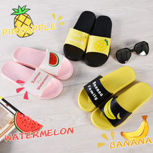 KINE PANDA Women Slippers Flip Flops Summer Women Fruit Beach Slides Banana Lemon Sandals Casual Shoes Slip On Slippers becca first light priming filter праймер для лица подсвечивающий