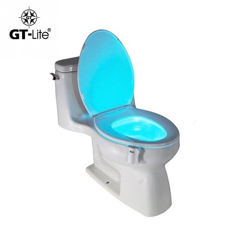 GT-lite 8 цвета датчик Тела Motion Датчик Туалет Свет Датчик Унитаза LED Лампы Motion Activated Унитаз ночь Свет
