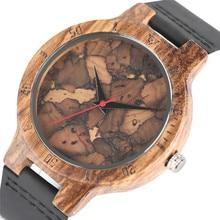 Stijlvolle Les Feuilles Mortes Patroon Gezicht Houten Horloges voor Mannen En Vrouwen Vintage Handgemaakte Houten Mannelijke Vrouwelijke Quarzt horloge gift