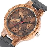Stylish Les Feuilles Mortes Pattern Mặt Gỗ Đồng Hồ cho Nam Giới Và Phụ Nữ Cổ Điển Thủ Công Gỗ Nam Nữ Quarzt-watch quà tặng