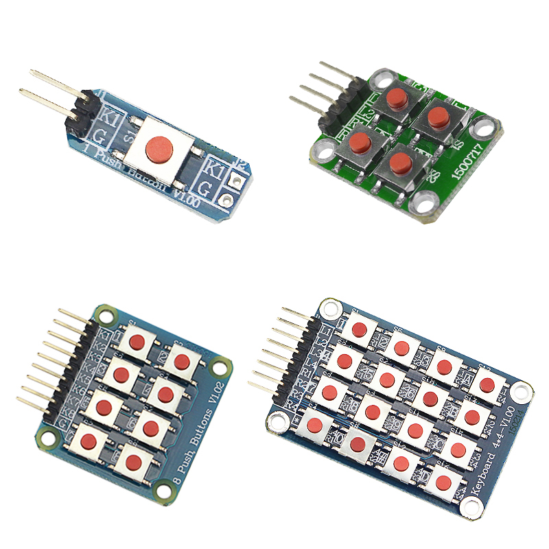 4 In 1 Kit Switch Key Module 1 4 8 16 Buttons Keypad  For DIY Circuit Board Raspberry Pi 3