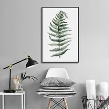Abstract Green Branch Canvas Paintings Modular Wall Pictures for Living Room Watercolor Print Poster Modern Home Decoration(China)