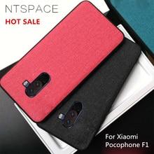 NTSPACE Retro Canvas Soft Silicone Phone Case For Xiaomi Pocophone F1 Poco F1 Business Man Cloth Case For Pocophone F1 Fundas цена и фото