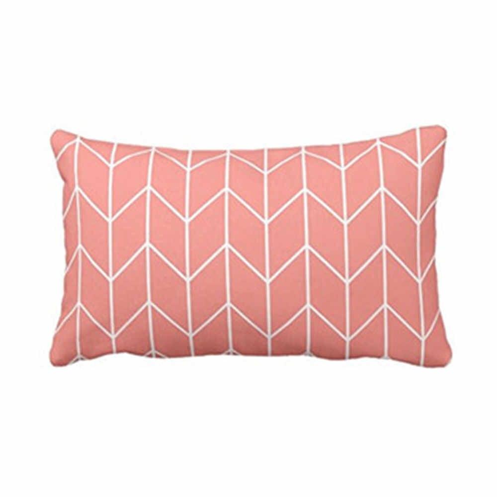 כרית כיסוי ביתי נוח שינה נדבק טהור ורענן ציפית פוליאסטר כותנה כרית כיסוי 30X50 cm כריות #3