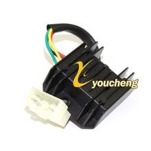 XF Напряжение Регулятор выпрямителя GY6 125cc 150cc 152QMI 15QMJ Скутер мопед ATV картинг 1 штекер 5 проводов WYQ-GY6XF5X