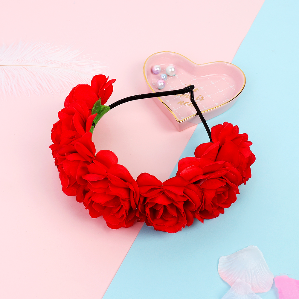 Bohemia Bride Headhoop Women Flower Headband Wedding Party Beach Headwear
