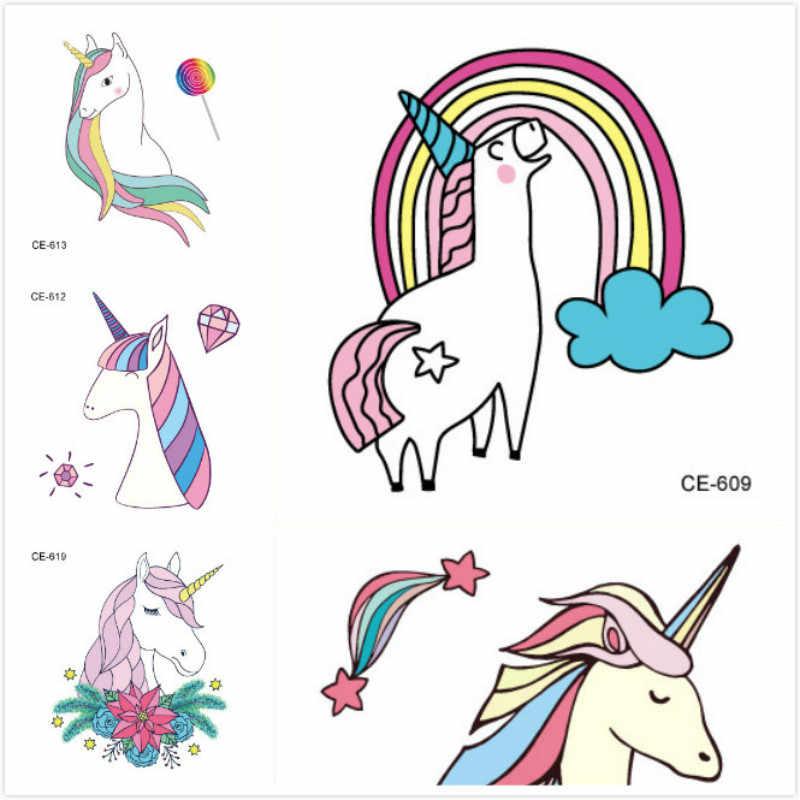 1 Set Emoji Stickers Opgewonden Rainbow Eenhoorn Cartoon Sticker tol Gift Speelgoed Jongen Meisje Kinderen Watermerk Tattoo