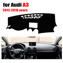 Car dashboard cover mat for Audi new A3 2012-2016 years Left hand drive dashmat pad dash covers auto dashboard accessories