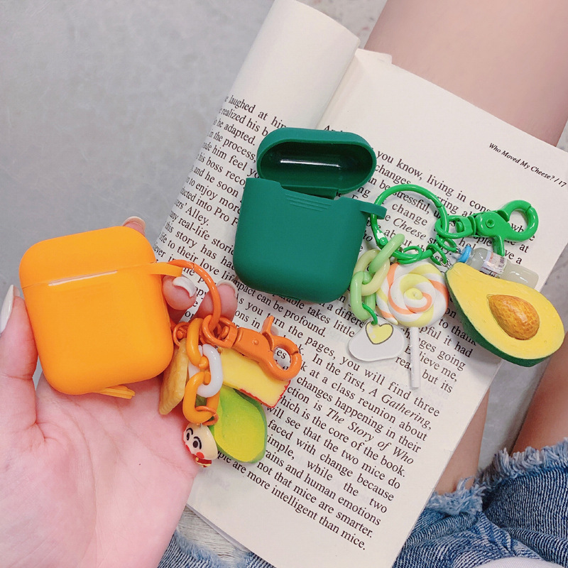 For Apple AirPods Case Cover Cute Green Fruit Avocado Durian Bluetooth  Earphone Case For Airpods Protective Cover With Key Ring|Earphone  Accessories| - AliExpress