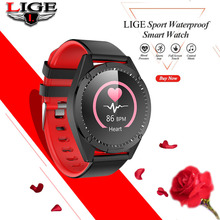 LIGE Smart watch 2019 for Men Women Heart rate monitor Exercise tracker sleep tracker IP67 Sports smart watch for IOS Android symrun smart watch heart rate monitor sleep tracker hands free calls for ios and android smart phones with speaker smart watch