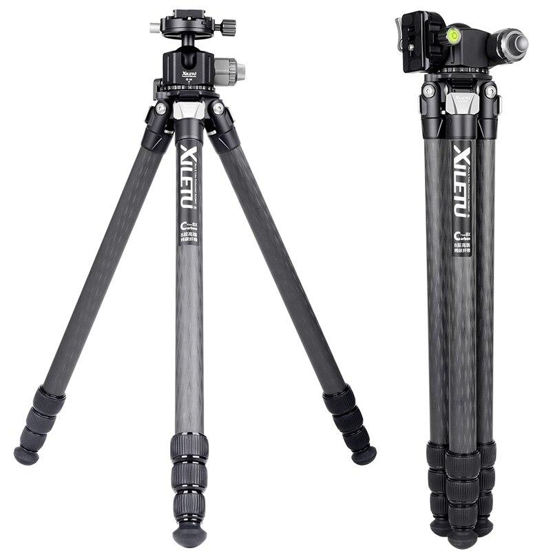 Image 2 - XILETU XLS284C+G44 Carbon Fiber Tripod Professional Photography Camera Tripod Stand Double Panorama Ball Head for DSLR TripodeTripods   -