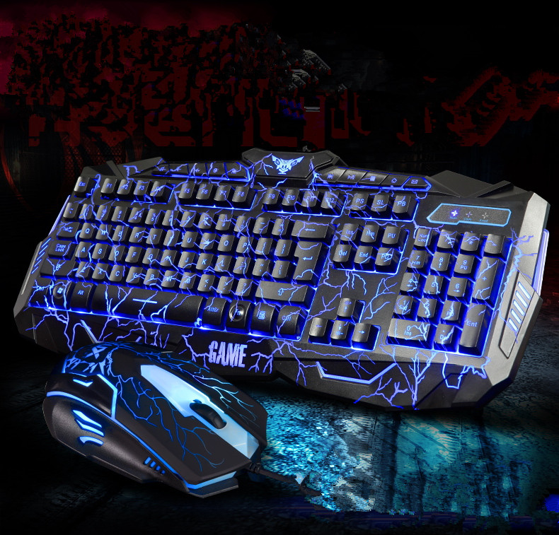 V100/M200 104 Keys 3-colors Gaming Wired Mechanical Keyboard Real RGB Blue Switch LED Backlit Anti-Ghosting for Game