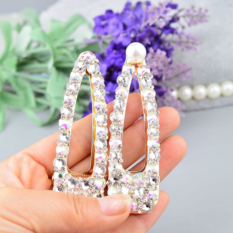 Bling Crystal Hairpins   Headwear   for Women Girls Rhinestone Hair Clips Pins Barrette Accessories A502