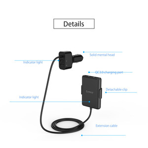 Image 5 - ORICO Car USB Charger Smart Charging 52W QC3.0 Quick Car Charger for Xiaomi Huawei Sanmsung Tablet Car