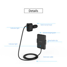 ORICO UCP-5P Portable 52W Car Charger with Expander Quick Charge 3.0 Car Charger 5 Porst for Your needs MPV Car