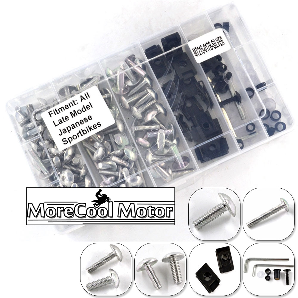 Complete Motorcycle Fairing Bolt Kit Body Screws Nuts For Kawasaki ZZR400 1993-2007 ER6N 2009-2011 Bodywork Fasteners