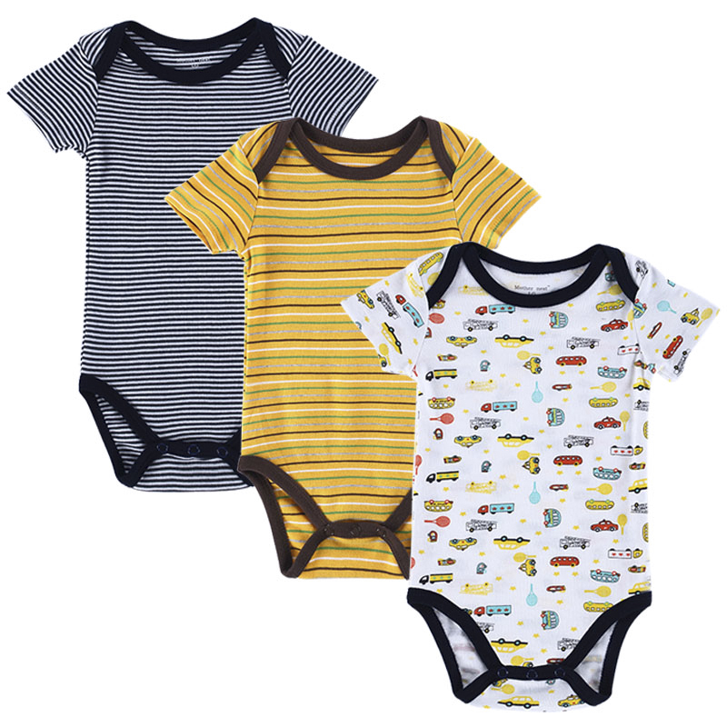 3pcs/lot Baby Rompers 2017 New Spring 100% Cotton Baby Clothing Newborn Baby Boy Girls Clothes Baby Overall Bebe Infant Clothes 2 pcs lot baby clothes baby boy girls footed romper baby rompers 100