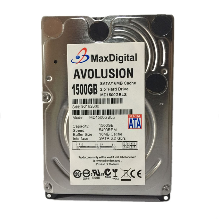 1.5TB 2.5 15mm Height SATA Hard Drive 5400RPM for PC Tower/Server/Mini-ITX/Desktop/Machine Warranty for 1-year hard drive x274a 146g 10k fc x274 3 5 scsi one year warranty
