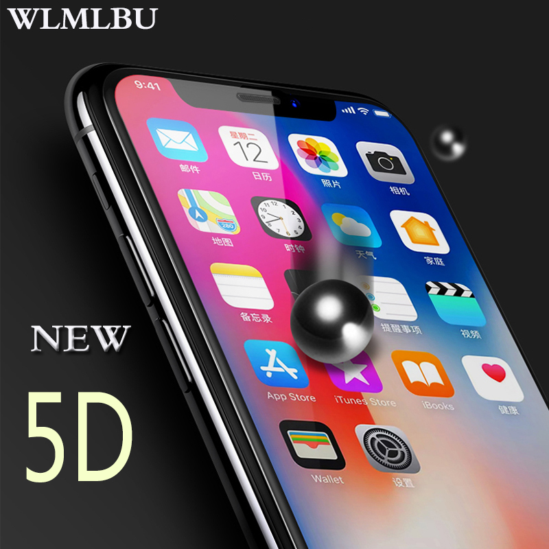 WLMLBU 5D Cold Carving Full Cover Tempered Glass For IPhone XS Max 7 6 8 Plus Curved Edge Screen Protector For IPhone XR 6 6s