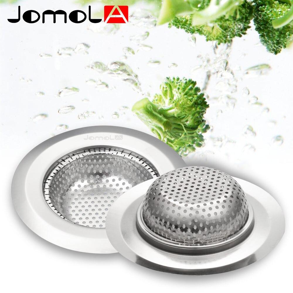 JOMOLA 2PCS Stainless Steel Kitchen Sink Strainer Large Wide Rim 4 10/25