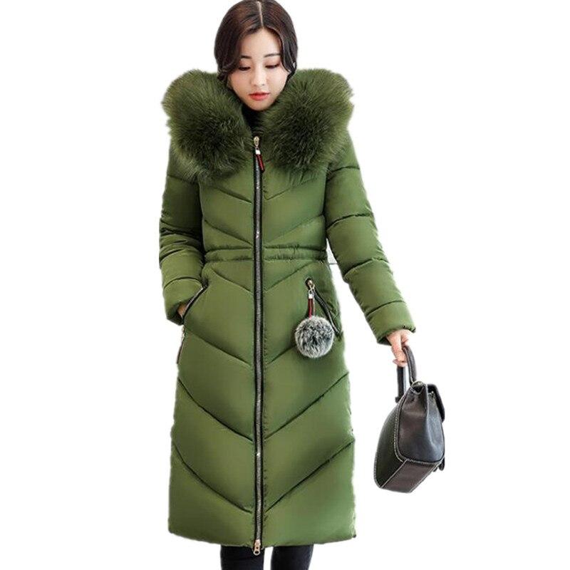 Manteau d'hiver Femmes Longues En Coton Vêtements Hiver Auto-culture Allongé Épaisse Veste En Coton Femme Parkas Femelle Manteaux k276