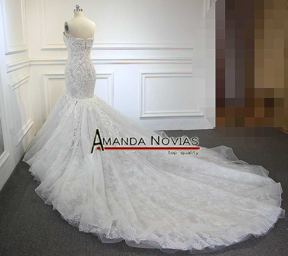 2019 New Arrival Champagne Mermaid Wedding Dress Full Beading - Fortuna  Brands f3d2c65bde72