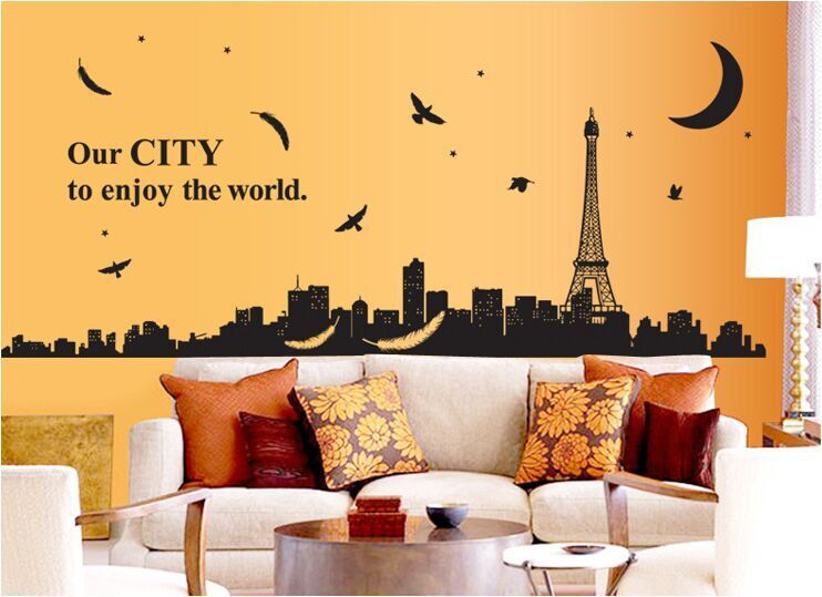 Modern Paris Vinyl Wall Art Vignette - All About Wallart ...