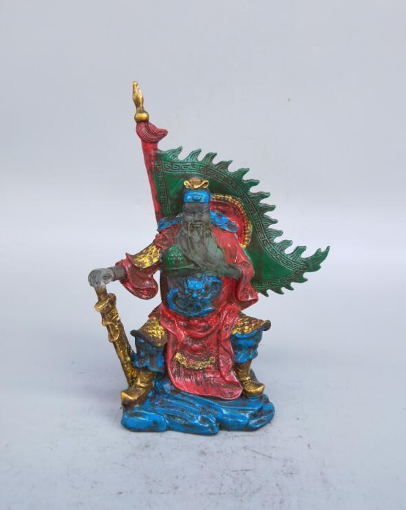 Statue de gong Guan couleur multicoloreStatue de gong Guan couleur multicolore