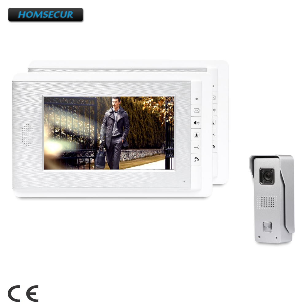HOMSECUR 7inch Video Security Door Phone With Intra-monitor Audio Intercom For Apartment : XC002+XM708-S