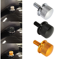 Chrome/Black/Gold Billet Aluminum Knurled Seat Bolt For Harley Sportster Dyna Touring