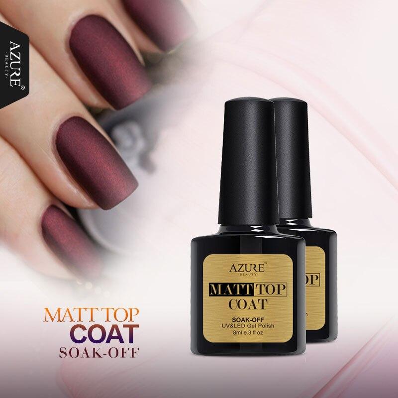 azure 1pcs matt top coat nail art