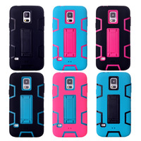 Funda Back Covers For Samsung Galaxy S5 I9600 Stand Case Cell Phones Accessories Hybrid Armor Couqe