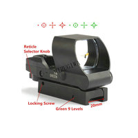 Tactical Holographic Rifle Reflex Laser Red Green Sight Scope 4 Reticle 20mm W/ Picainny Rail Scope Gun Hunting Outside