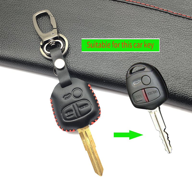 For Mitsubishi Outlander Pajero Lancer Ex Mitsubishi Asx Popular Fashion Men Leather Key Chain Car Cover