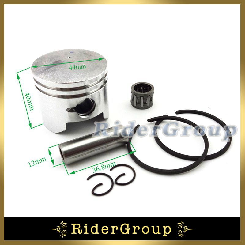 44mm Piston 12mm Pin For 2 Stroke 49cc Engine Parts ...