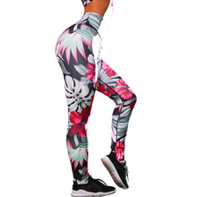 Rylanguage Flower Ladies Leggings Hot Sale 2019 Summer Sport Fitness High Waisted Womens Sporting Long Pants