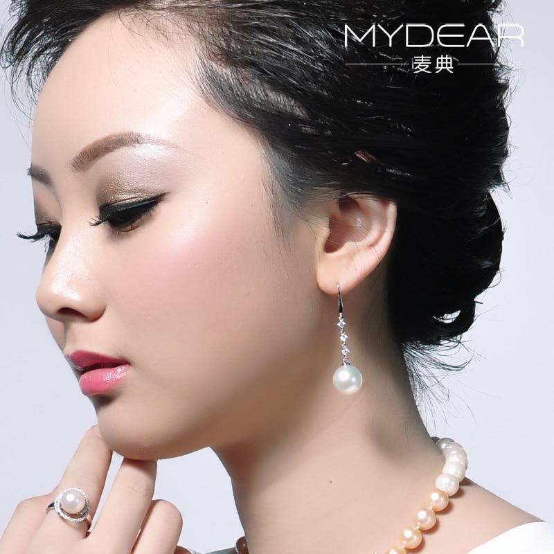 MYDEAR Fashion Jewelry 2017 new design women earrings Moon Shape Earrings pair of chic women s smooth round shape design earrings