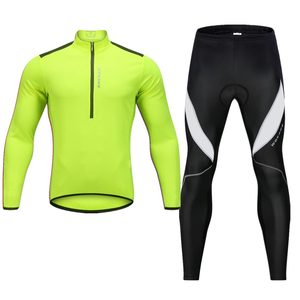 Image 3 - WOSAWE High Visibility Men Cycling Clothes Gel Pad Waterproof Fleece Tight Pants Jersey Set Shirts MTB Bike Sports Suit Clothing