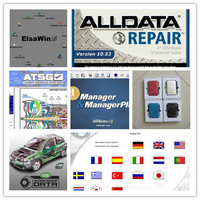 2017 auto repair software alldata 10.53 mitchell on demand + heavy truck 49 softwares in 1tb hdd + dhl free shipping