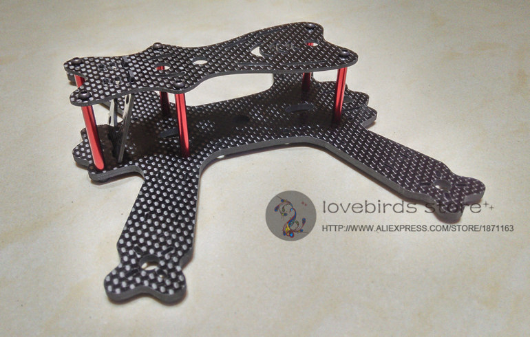 diy super mini fpv qav175 cross racing drone qvi175 30 pure carbon fiber quadcopter frame
