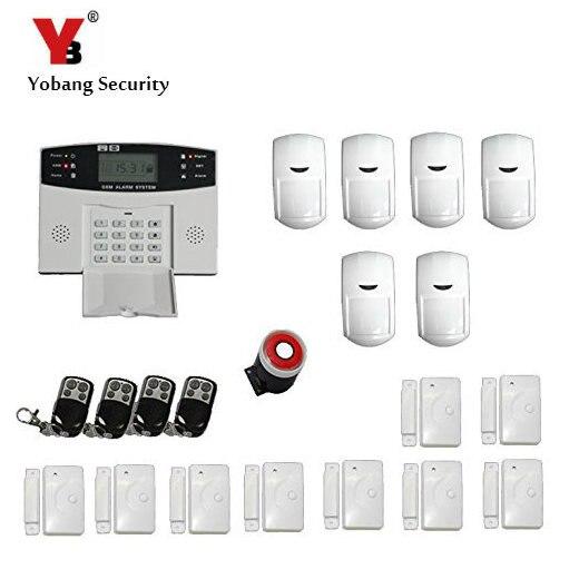 Yobangsecurity металла Дистанционное управление голосовые подсказки Беспроводной двери, окна Сенсор домашней безопасности GSM сигнализация Систе