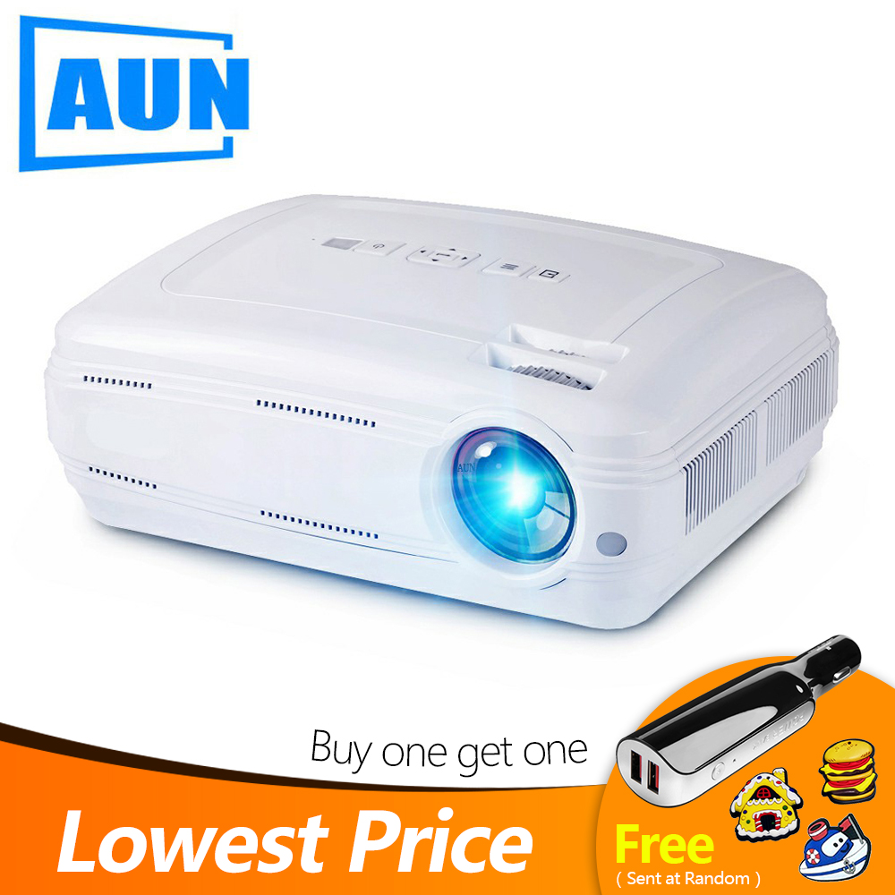 AUN AKEY2 LED Projector 3500 Lumens Upgrade Android 7 0 Beamer Built in WIFI Bluetooth Support