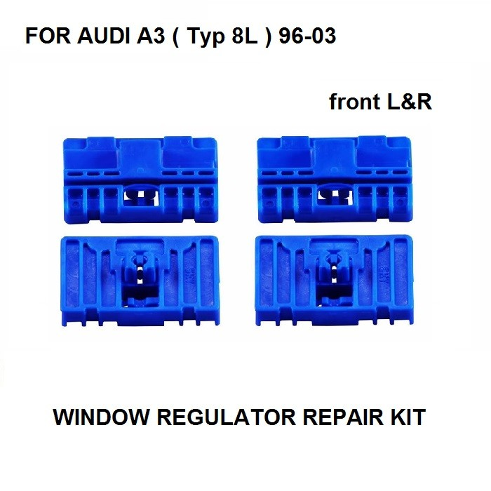 X4 CLIPS FOR AUDI A3 8L1 ELECTRIC WINDOW REGULATOR REPAIR KIT FRONT LEFT And RIGHT SIDE 2/3 DOOR 1996-2003 S3 S6 RS6 NEW