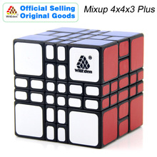 WitEden Mixup 4x4x3 Plus Magic Cube 443 Cubo Magico Professional Neo Speed Puzzle Antistress Fidget Toys For Children