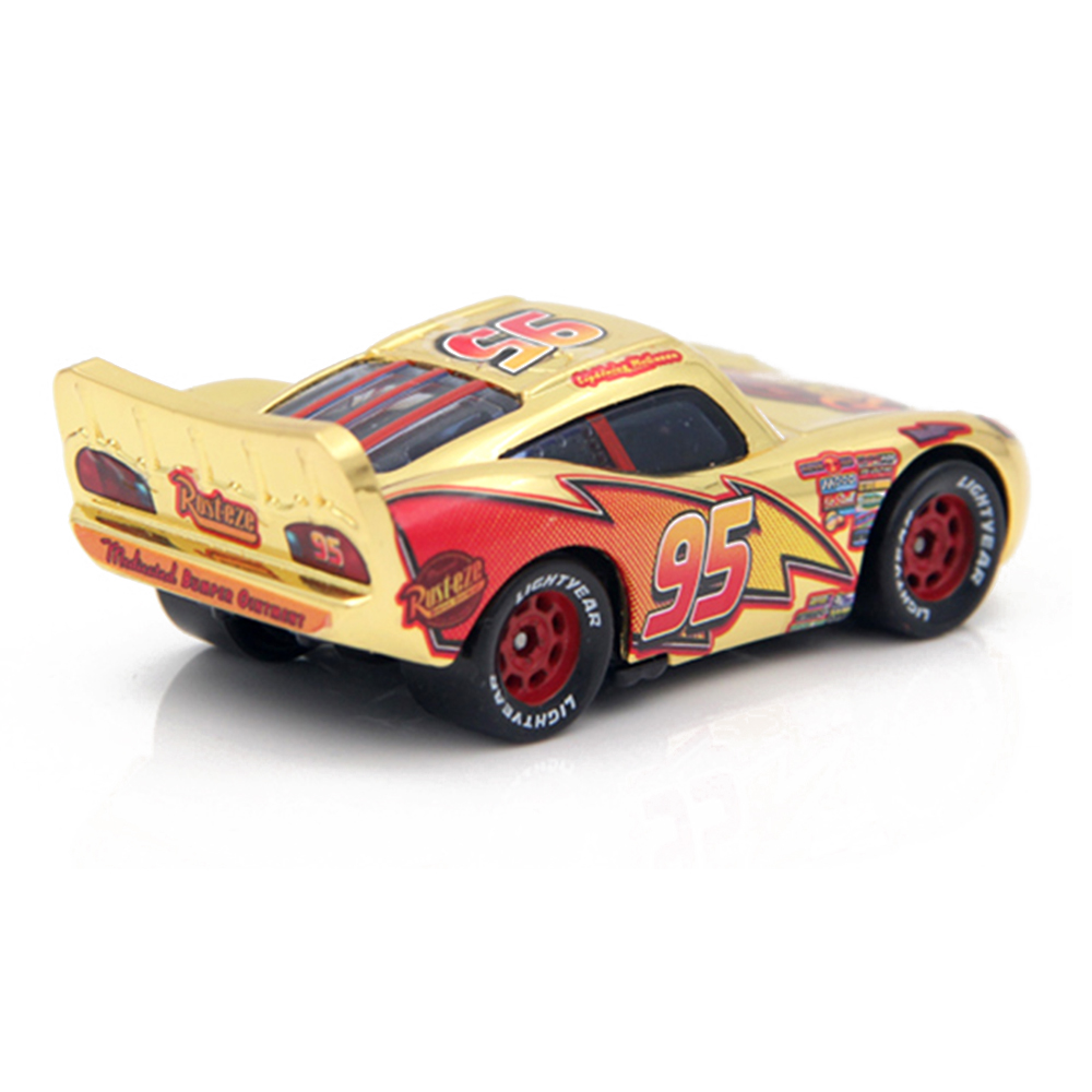 disney pixar cars gold silver lightning mcqueen 1 55 diecast metal