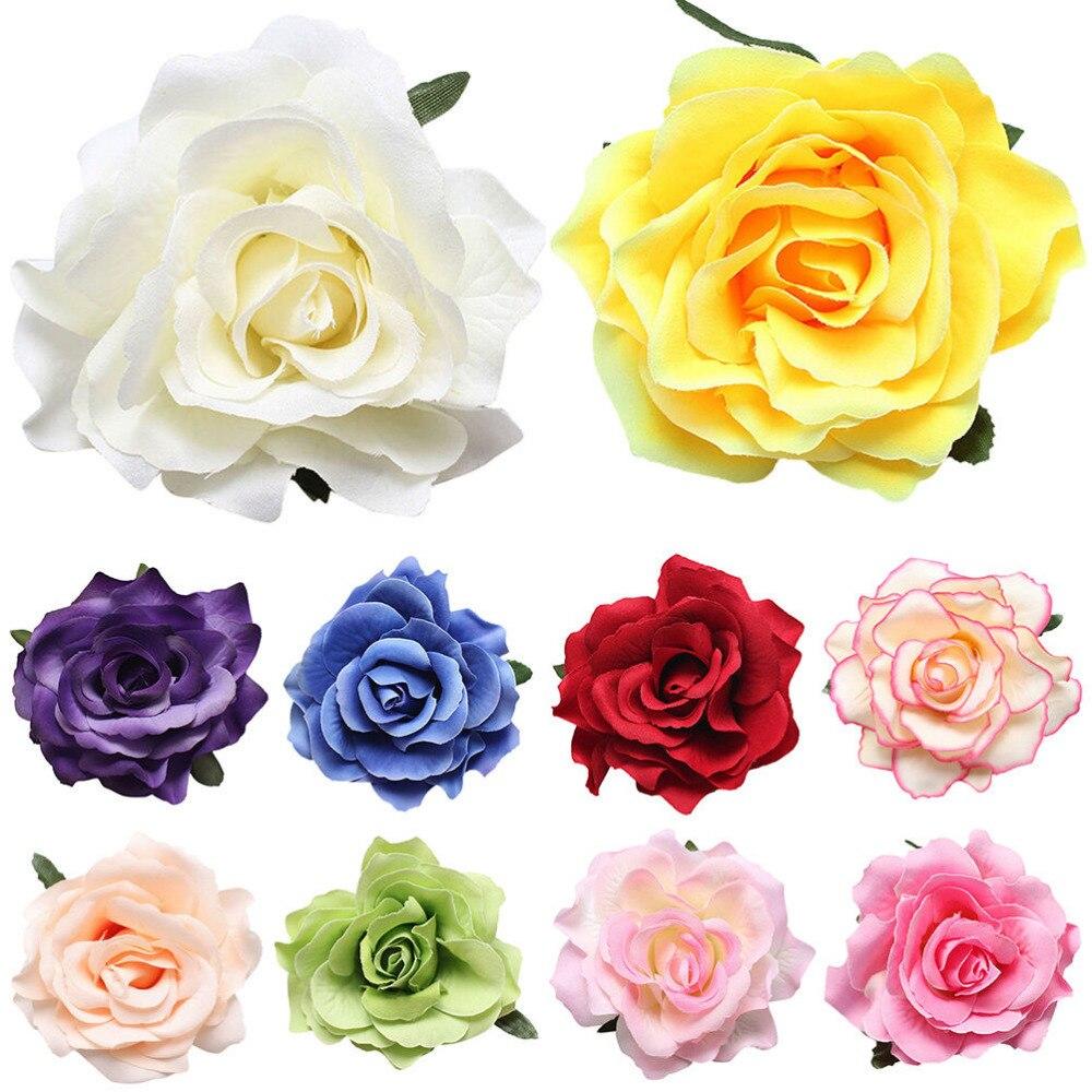 1 Pcs Cloth DIY Headdress Hair Accessories For Bridal Wedding Red Rose Flower Hair Clip Hairpin