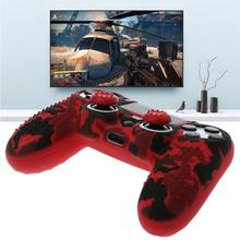 PS4 Silikon Fall Anti Slip Abdeckung Mit Grip Kappe Für Playstation PS4 Controller(China)