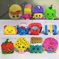 11 pçs/lote temporada frutas brinquedos de pelúcia apple biscoitos rosquinhas batom chocolate muffin de brinquedos para crianças de natal gif