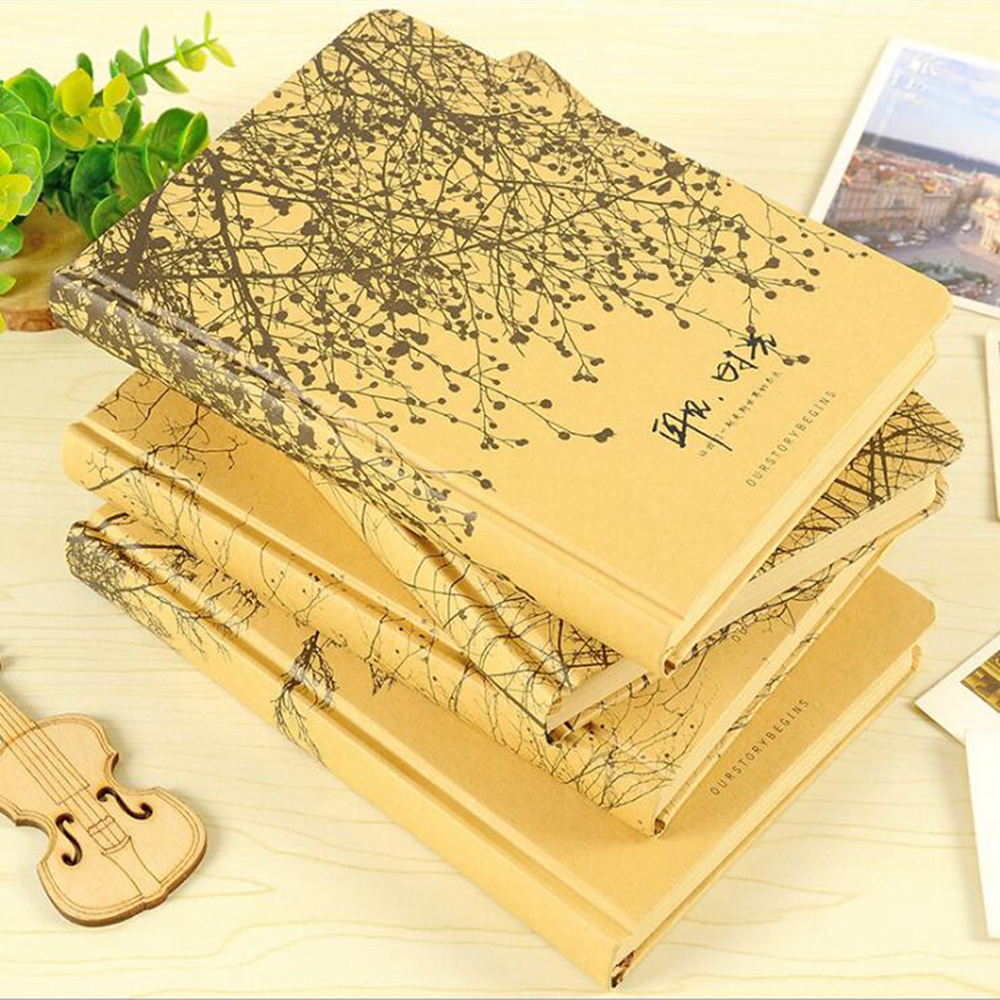 Creative Blank Kraft Paper Hardcover Notebook Office School Stationery Organizer Student Diary Agenda DIY Bullet Journals домкрат kraft кт 800026