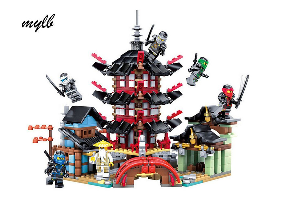 mylb Ninja Temple of Airjitzu Ninjagoes Smaller Version Bozhi 737 pcs Blocks Set with Toys for Kids Building Bricks fundamentals of physics extended 9th edition international student version with wileyplus set
